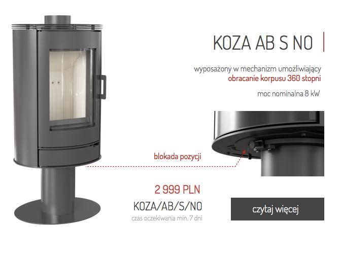 Nowość Koza AB S NO obrotowa Kominki Kratki.pl KominkiGP Kraków